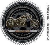 custom motorbike and  freedom   Shutterstock . vector #786550837