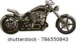 custom motorbike and  freedom | Shutterstock . vector #786550843