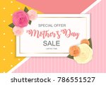 happy mother s day cute sale... | Shutterstock .eps vector #786551527