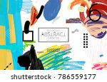 abstract universal art web... | Shutterstock .eps vector #786559177