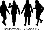women silhouettes.vector works . | Shutterstock .eps vector #786565417