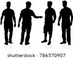 people silhouettes. vector works | Shutterstock .eps vector #786570907