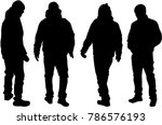people silhouettes. vector works | Shutterstock .eps vector #786576193
