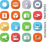 flat vector icon set   chip... | Shutterstock .eps vector #786578353