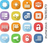 flat vector icon set   chip... | Shutterstock .eps vector #786581473