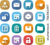flat vector icon set   share... | Shutterstock .eps vector #786581497
