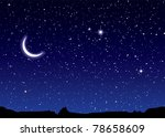 space landscape with silhouette ... | Shutterstock . vector #78658609