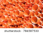 pvc pipes stacked in... | Shutterstock . vector #786587533