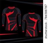 rash guard mma red stripe...   Shutterstock .eps vector #786588787