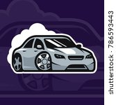 sport car vector illustration.... | Shutterstock .eps vector #786593443