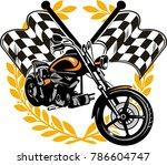 motorcycle color line... | Shutterstock . vector #786604747