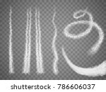 vector airplane condensation... | Shutterstock .eps vector #786606037