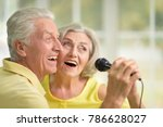 couple husband and wife singing ... | Shutterstock . vector #786628027