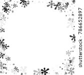 black and gray blots on a white ... | Shutterstock .eps vector #786652897