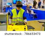 industrial simulator of the... | Shutterstock . vector #786653473