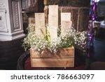 wedding seating plan displayed...   Shutterstock . vector #786663097
