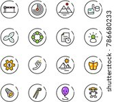 line vector icon set   barrier... | Shutterstock .eps vector #786680233