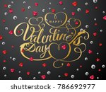 happy valentines day greeting... | Shutterstock .eps vector #786692977