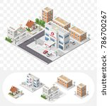 isometric high quality city... | Shutterstock .eps vector #786700267