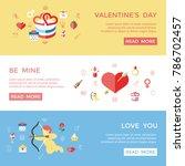 digital vector february happy...   Shutterstock .eps vector #786702457