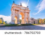 arch of peace  or arco della... | Shutterstock . vector #786702703