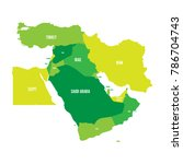 map of middle east  or near... | Shutterstock .eps vector #786704743