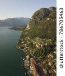 aerial photo of lake como ... | Shutterstock . vector #786705463
