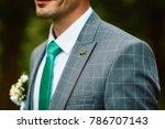grooms morning preparation ... | Shutterstock . vector #786707143