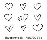isolated set of coloring... | Shutterstock .eps vector #786707893