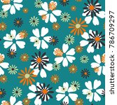 small floral pattern. cute... | Shutterstock .eps vector #786709297