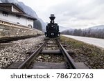 a picture of a steam locomotive ... | Shutterstock . vector #786720763