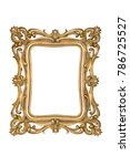 golden picture frame isolated... | Shutterstock . vector #786725527
