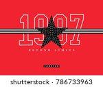varsity graphic for t shirt   Shutterstock . vector #786733963
