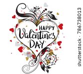 happy valentines day template...   Shutterstock .eps vector #786738013