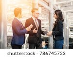group of business people... | Shutterstock . vector #786745723