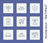 industry icons set with... | Shutterstock . vector #786749647