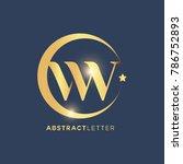 vw  logo design template.... | Shutterstock .eps vector #786752893