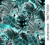 watercolor seamless pattern... | Shutterstock . vector #786773203