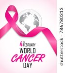 world cancer day on february 4... | Shutterstock .eps vector #786780313