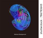 abstract vector background dot...   Shutterstock .eps vector #786783643