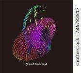 abstract vector background dot...   Shutterstock .eps vector #786783817