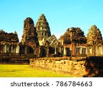 archaeological site of thailand ... | Shutterstock . vector #786784663