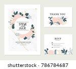wedding card invitation | Shutterstock .eps vector #786784687