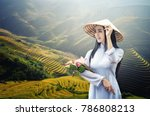 portrait of beautiful asian... | Shutterstock . vector #786808213