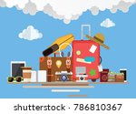 a set of elements for travel... | Shutterstock .eps vector #786810367