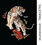 Tiger Embroidery Patch Print