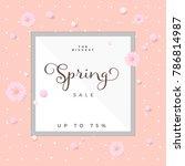 vector floral spring sale... | Shutterstock .eps vector #786814987