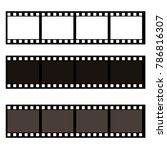 blank film frame stock...   Shutterstock .eps vector #786816307