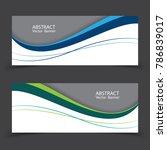vector abstract design banner... | Shutterstock .eps vector #786839017