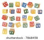 separated alphabet blocks of...